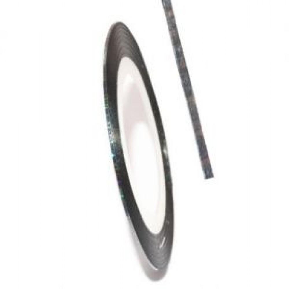 Нить (скотч) декоративная для дизайна ногтей серебро