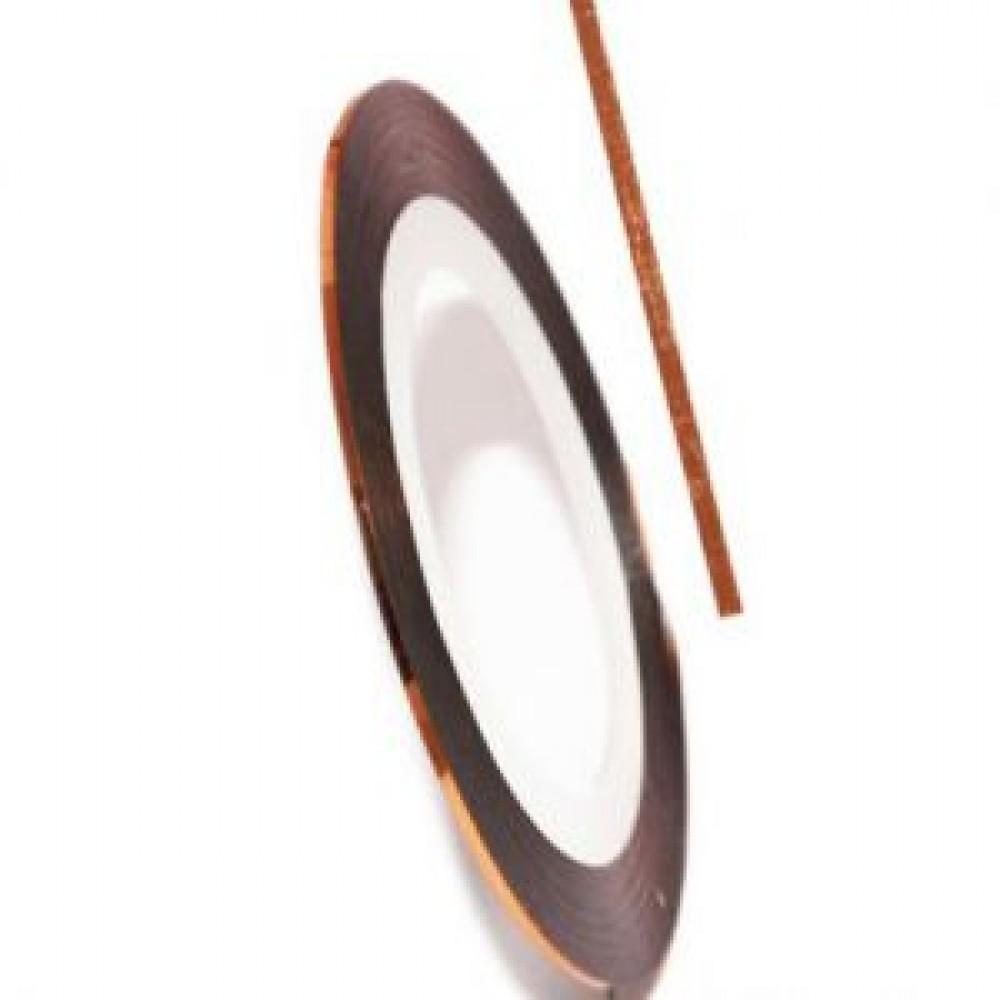 Нить (скотч) декоративная для дизайна ногтей оранжевая