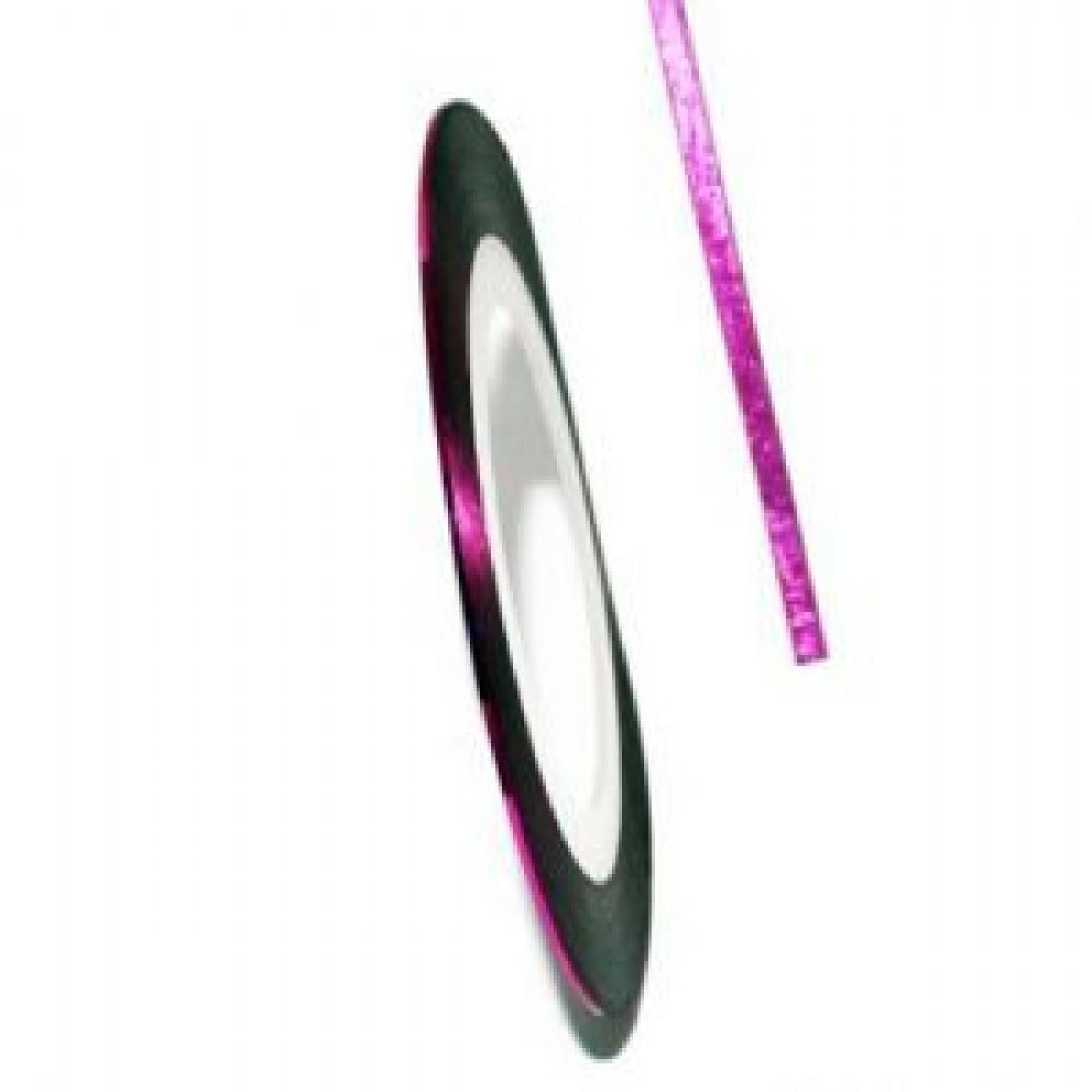 Нить (скотч) декоративная для дизайна ногтей розовая