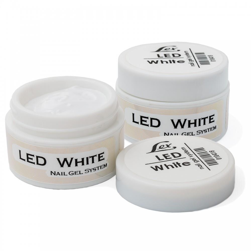 LEX Gel Sistem LED White - моделирующий белый гель, 18g