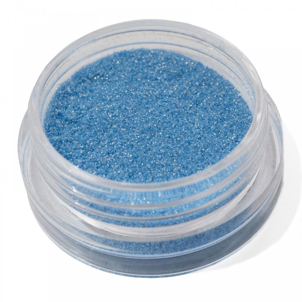 Блестки мелкие для nail дизайна голубые голограмма