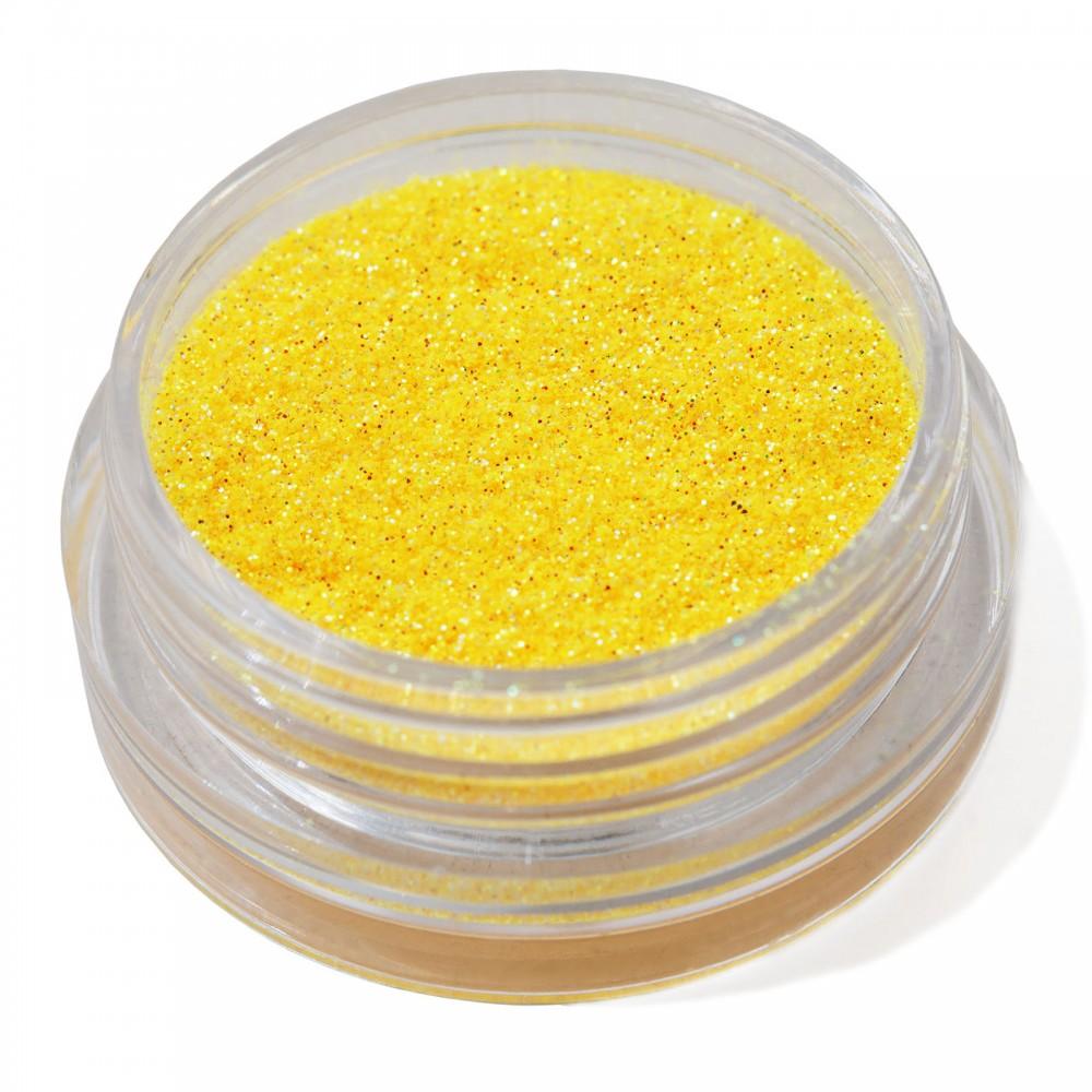 Блестки мелкие для nail дизайна желтые голограмма