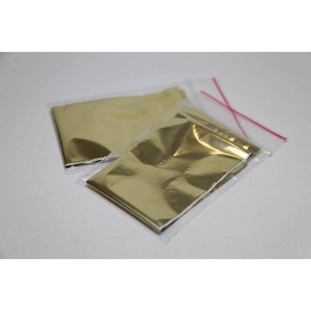 Фольга для литься - 4х50см ультратонкая, золото