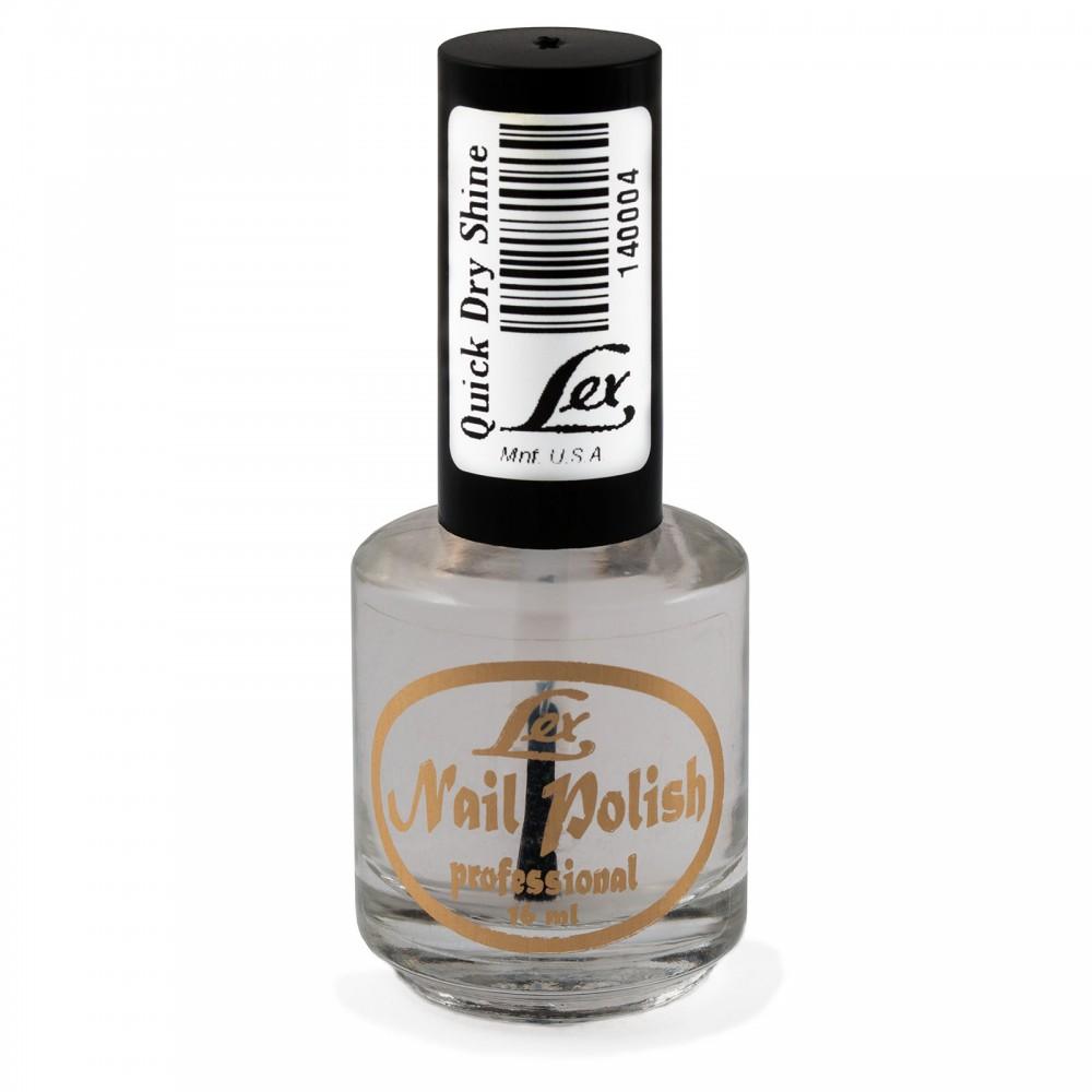 LEX Quick Dry Shine - быстросохнущее верхнее покрытие, 15мл