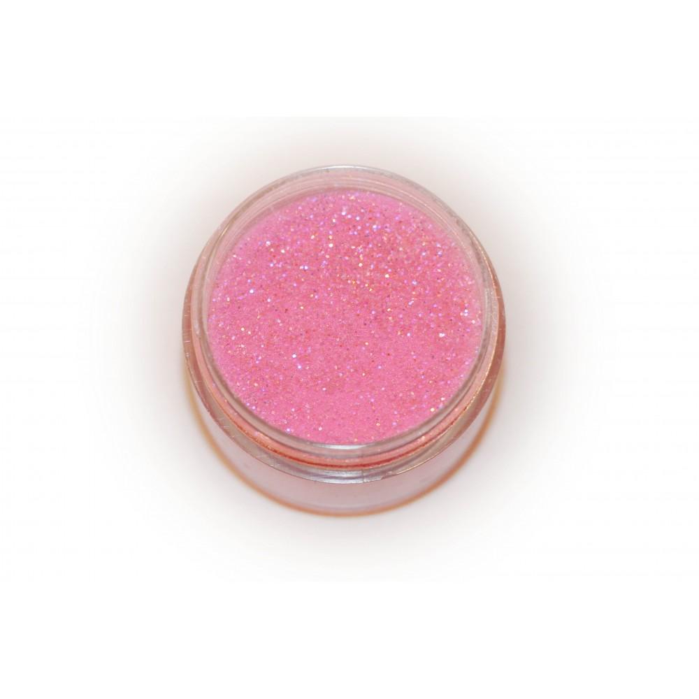 Цветная пудра для лепки LEX Shine Rose  - мерцающая с глиттером, 7г