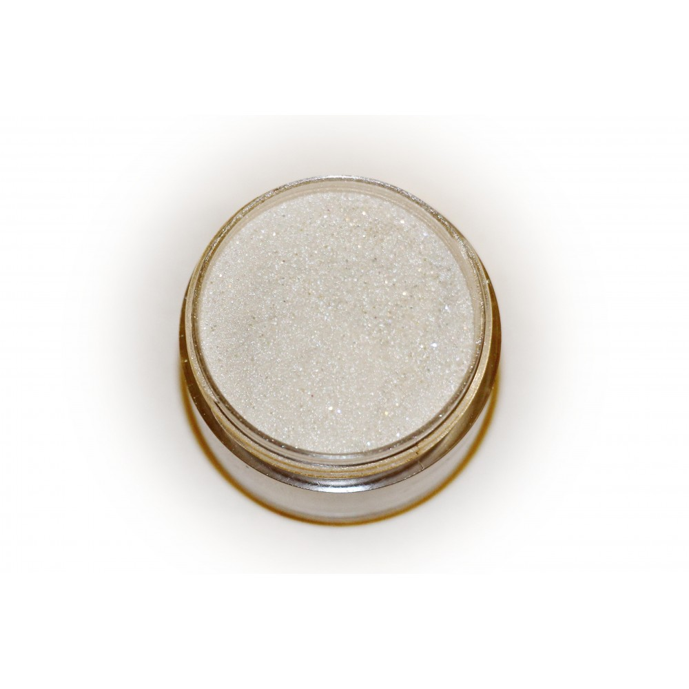 Цветная пудра для лепки LEX Shine Silver  - мерцающая с глиттером, 7г
