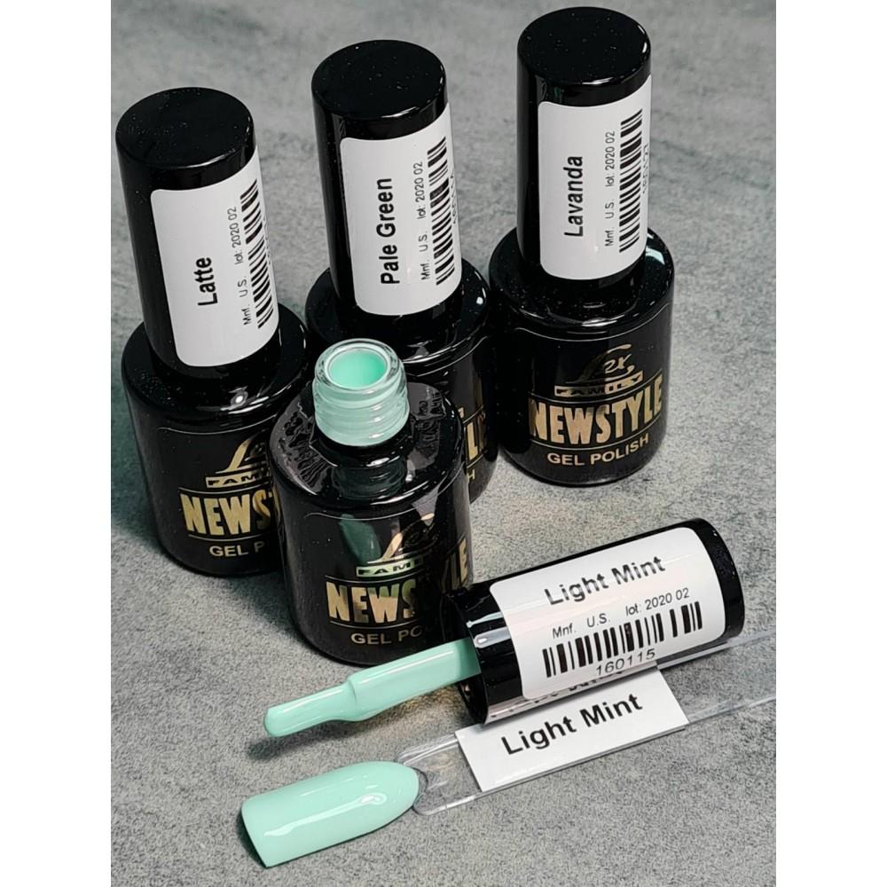 LEX NEW STYLE Light Mint- гель лак сверхплотной пигментации, 8ml