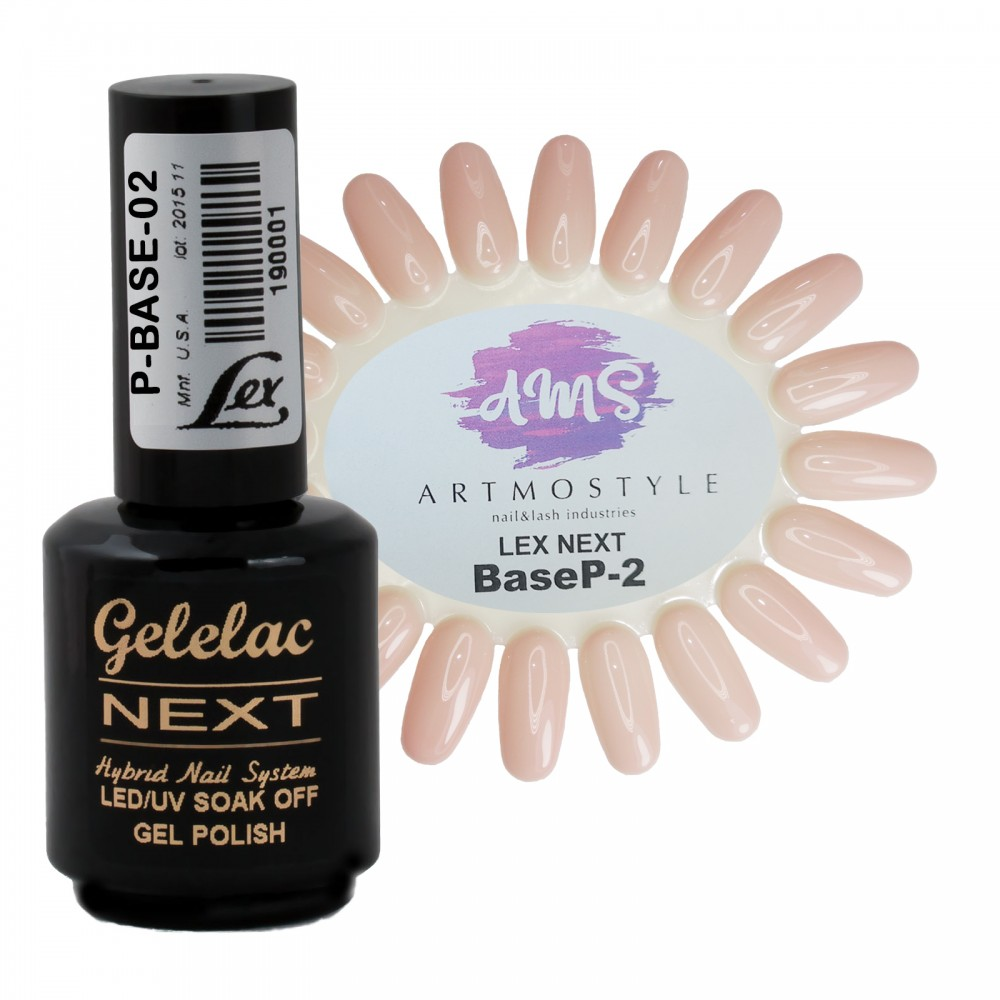 LEX Gelelac NEXT Rubber Base P-02 - база под гель-лак, 15ml