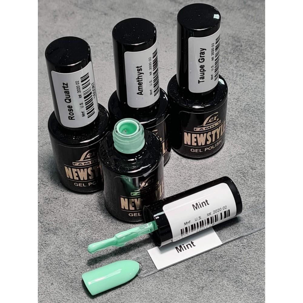 LEX NEW STYLE Mint - гель лак сверхплотной пигментации, 8ml