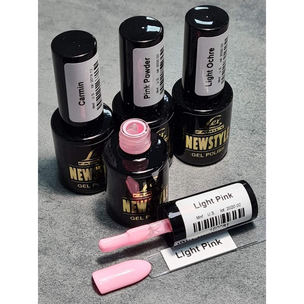 LEX NEW STYLE Light Pink- гель лак сверхплотной пигментации, 8ml