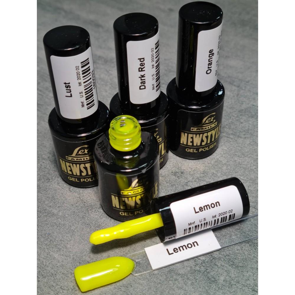 LEX NEW STYLE Lemon- гель лак сверхплотной пигментации, 8ml