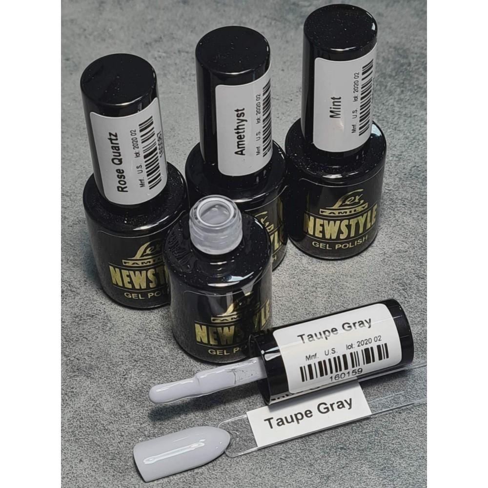 LEX NEW STYLE Taupe Gray - гель лак сверхплотной пигментации, 8ml