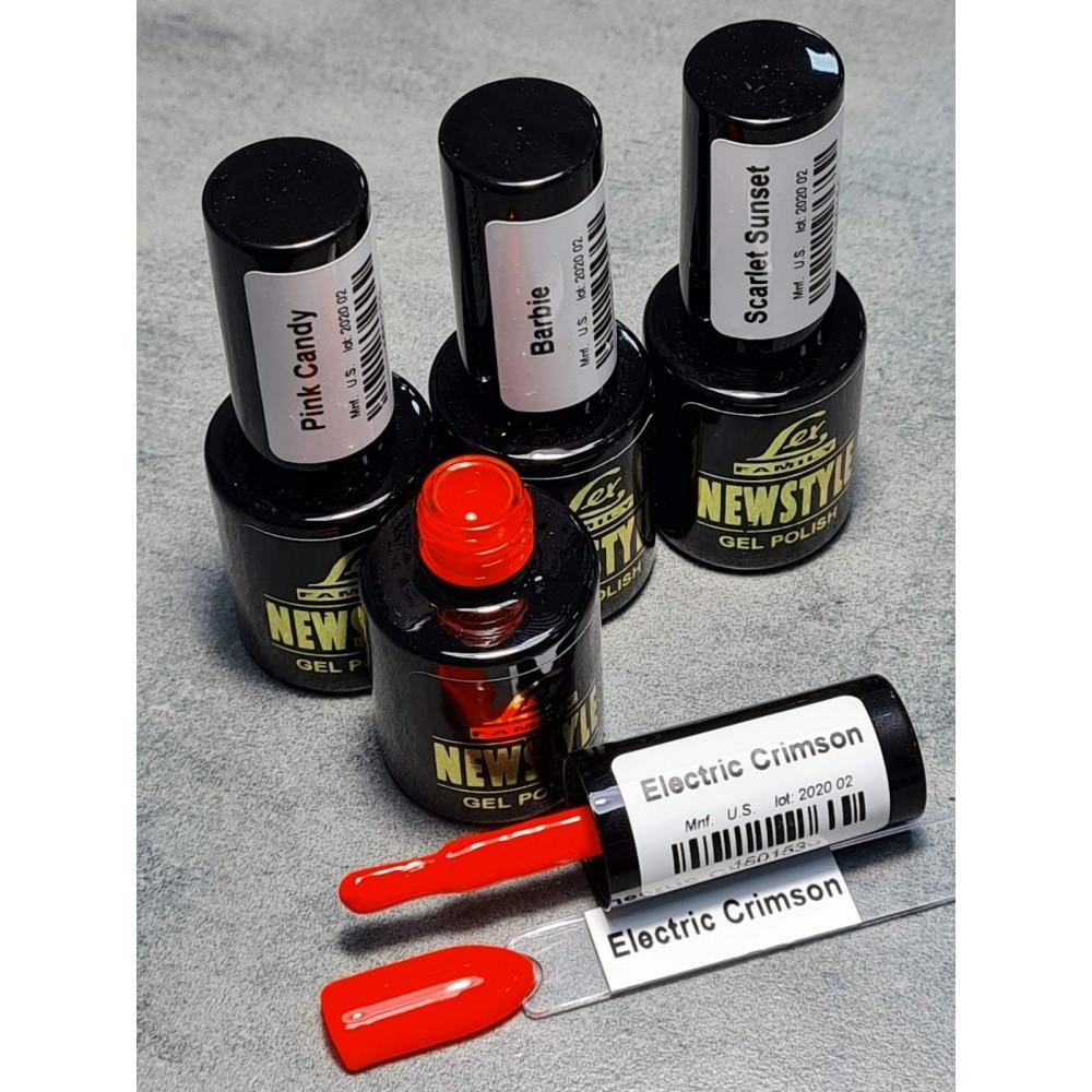 LEX NEW STYLE Electric Crimson- гель лак сверхплотной пигментации, 8ml