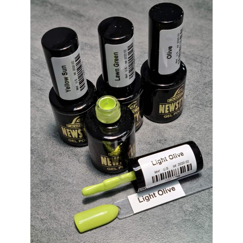 LEX NEW STYLE Light Olive- гель лак сверхплотной пигментации, 8ml
