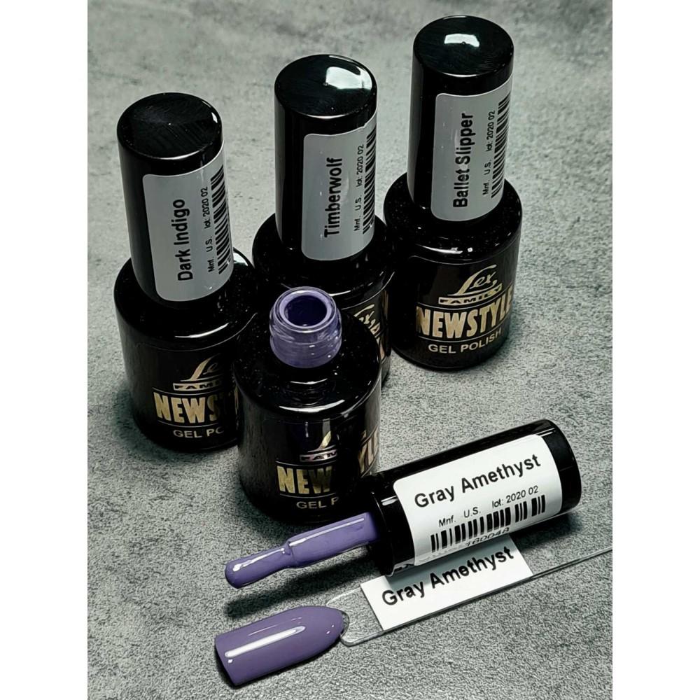 LEX NEW STYLE Gray Amethyst- гель лак сверхплотной пигментации, 8ml