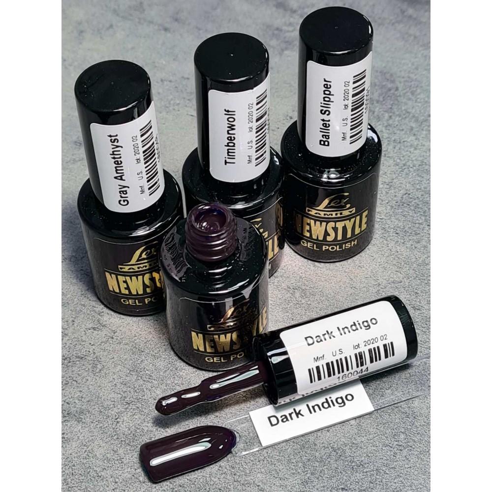LEX NEW STYLE Dark Indigo- гель лак сверхплотной пигментации, 8ml