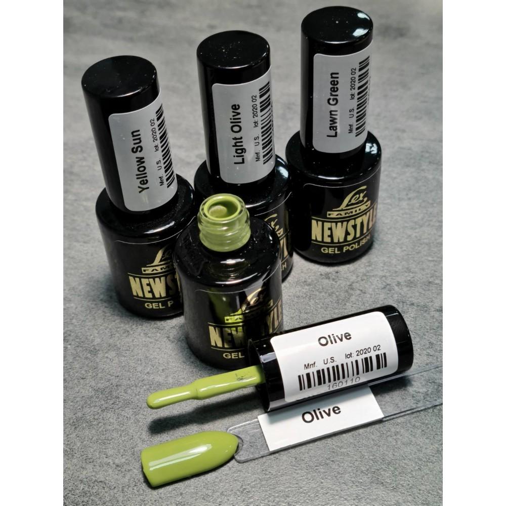 LEX NEW STYLE Olive- гель лак сверхплотной пигментации, 8ml