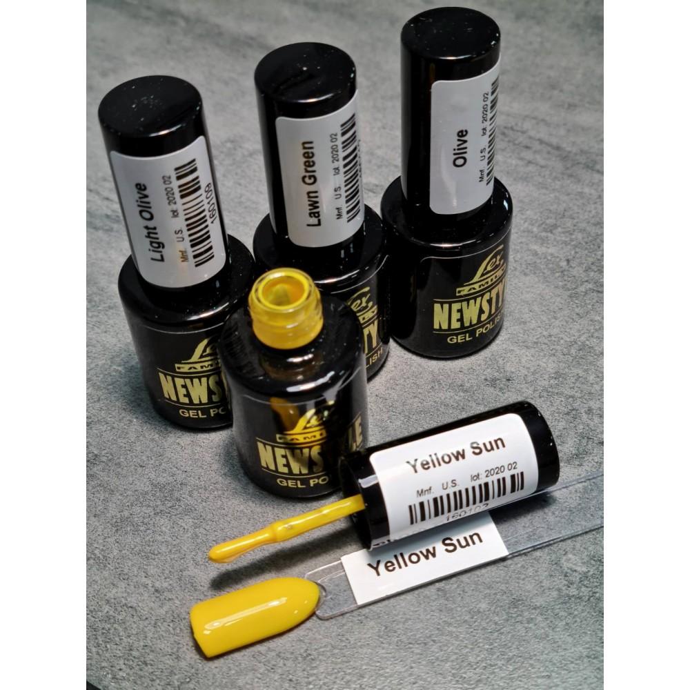 LEX NEW STYLE Yellow Sun- гель лак сверхплотной пигментации, 8ml