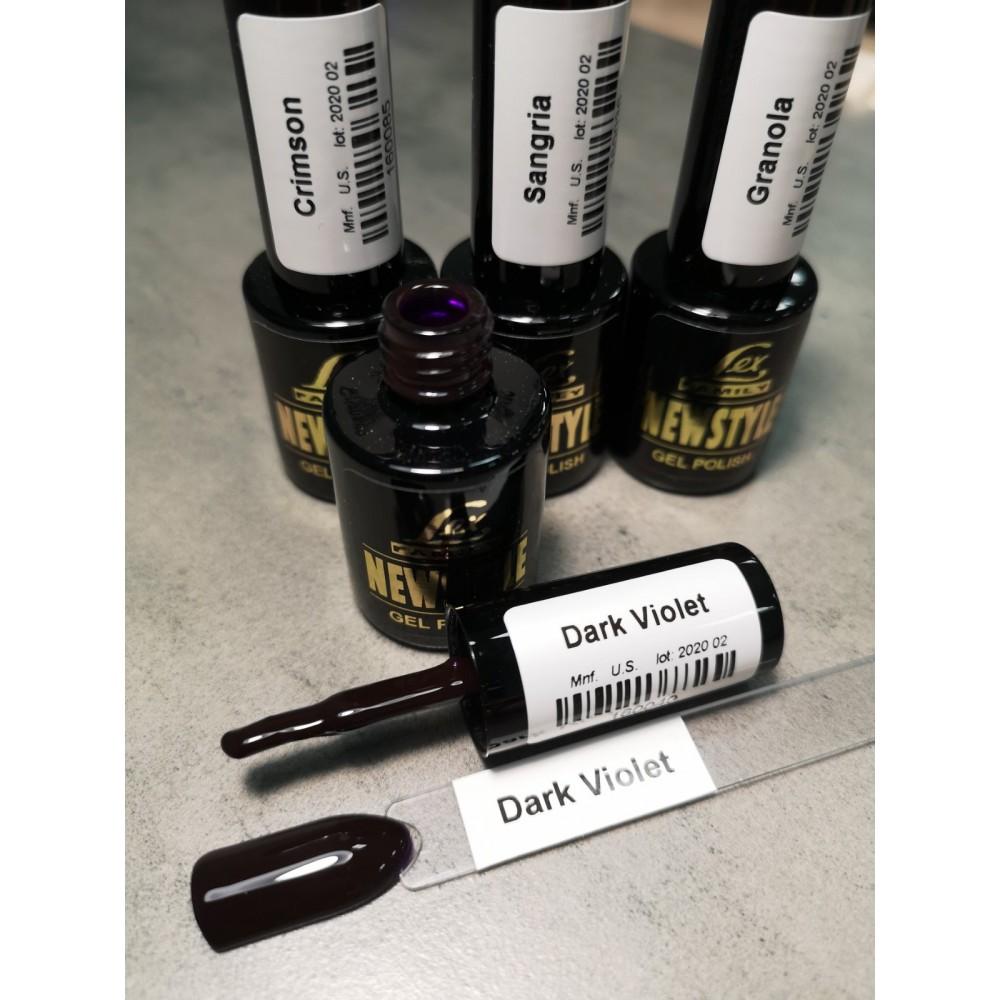 LEX NEW STYLE Dark Violet - гель лак сверхплотной пигментации, 8ml