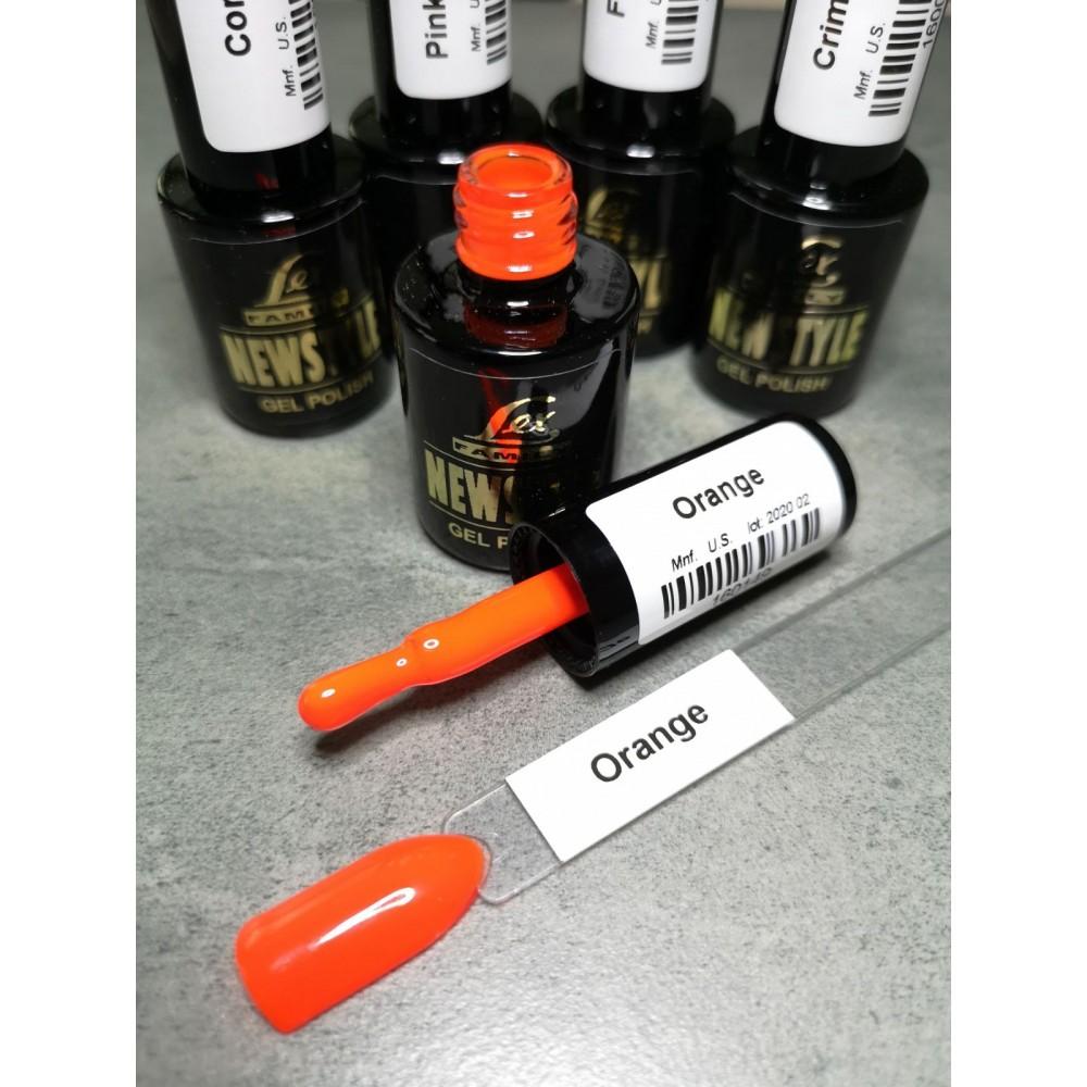 LEX NEW STYLE Orange - гель лак сверхплотной пигментации, 8ml