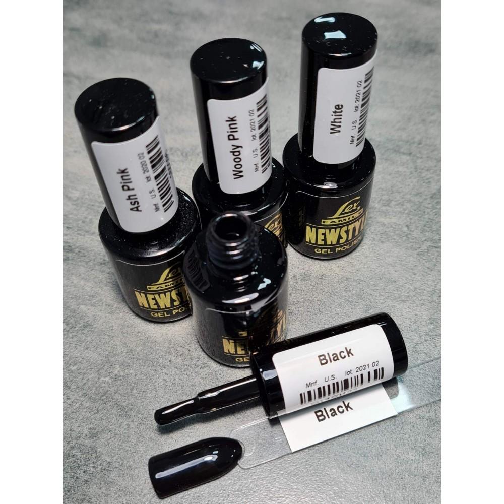 LEX NEW STYLE Black - гель лак сверхплотной пигментации, 8ml