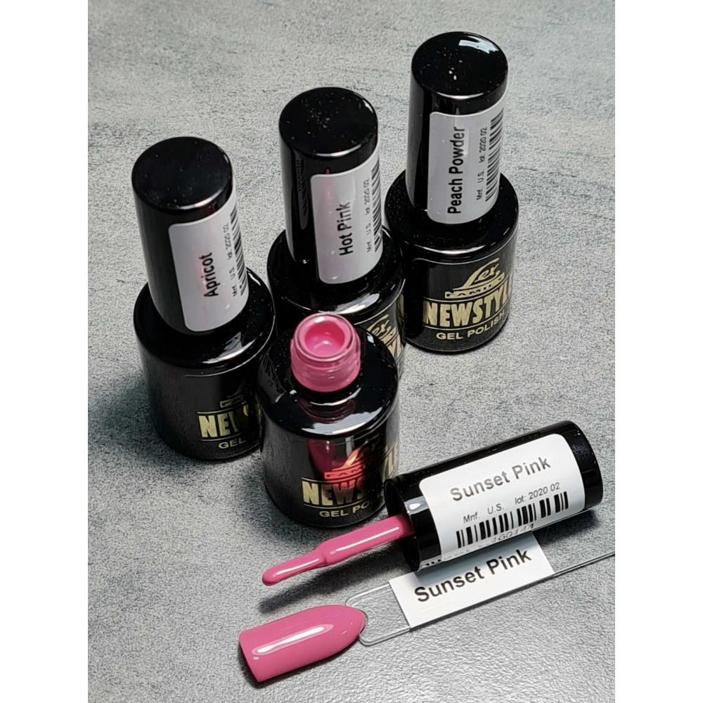 LEX NEW STYLE Sunset Pink- гель лак сверхплотной пигментации, 8ml