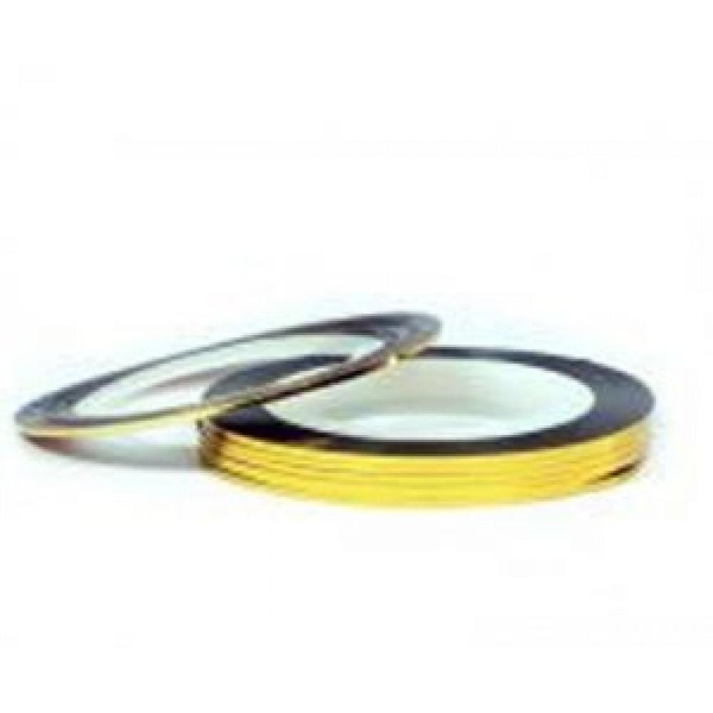 Нить (скотч) декоративная для дизайна ногтей золото