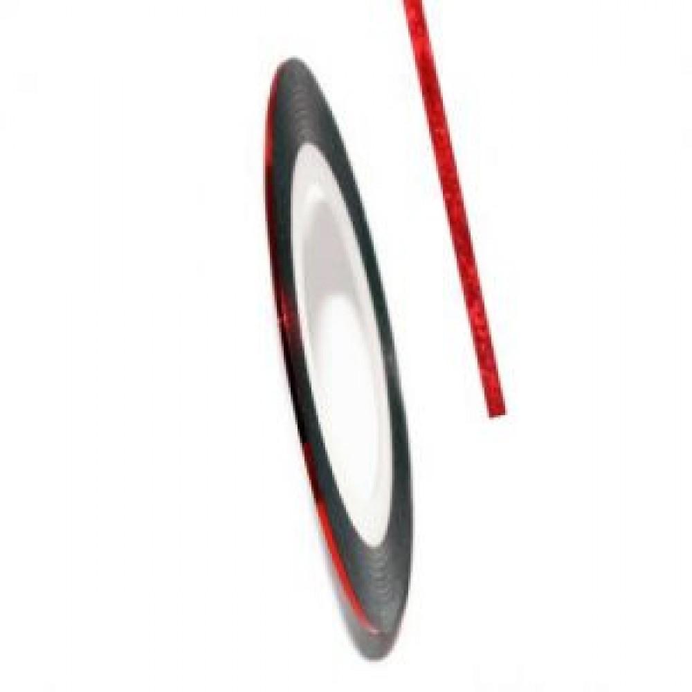 Нить (скотч) декоративная для дизайна ногтей красная