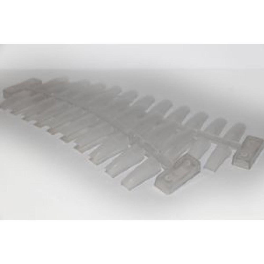 Прямоугольный прозрачный планшет на 20 ногтей