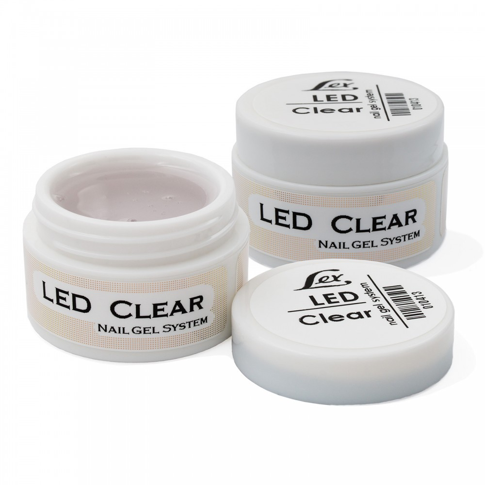 LEX Gel Sistem LED pure Clear - прозрачный гель, 60g