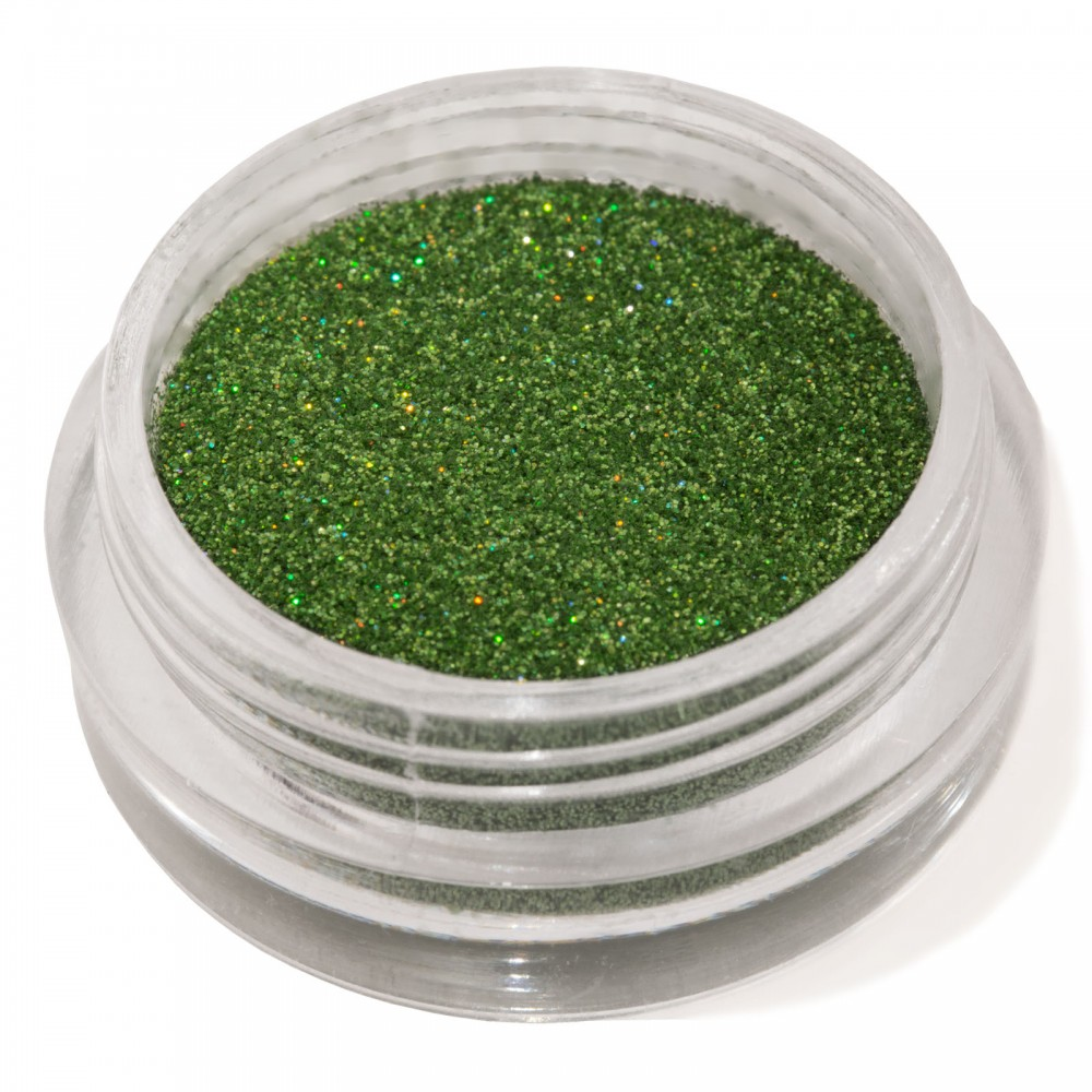 Блестки мелкие для nail дизайна зеленые голограмма