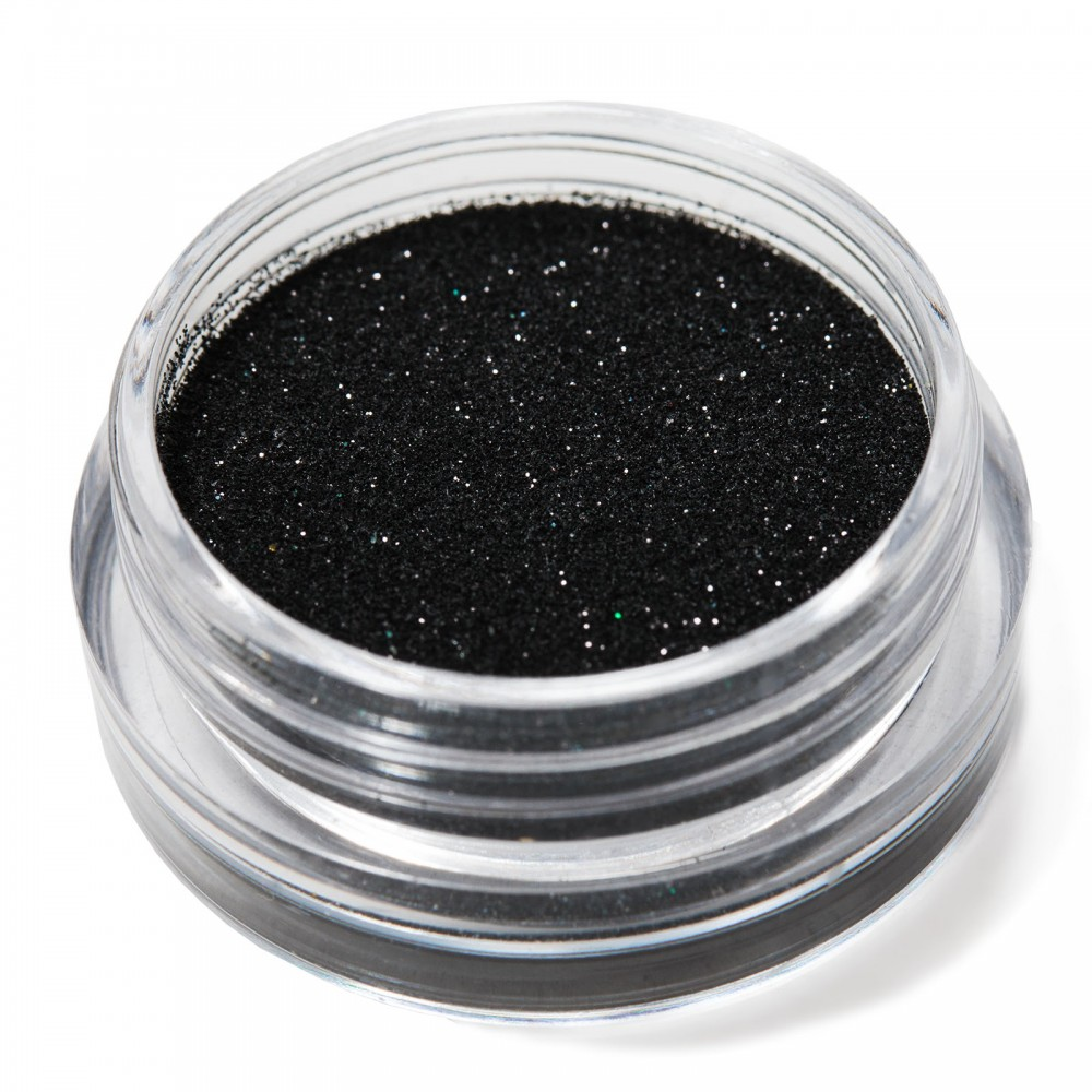 Блестки мелкие для nail дизайна черные