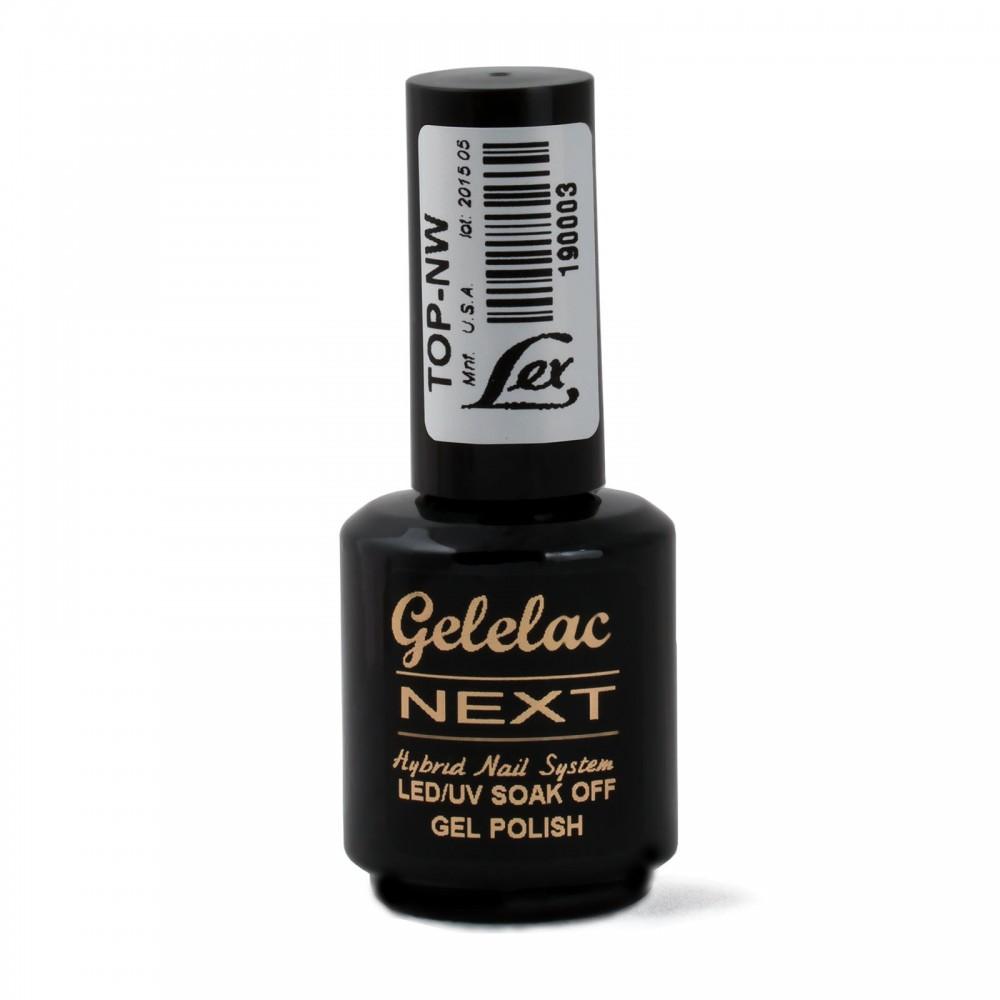 LEX Gelelac NEXT Top NW -  верхнее покрытие для гель-лака без липкости,15ml
