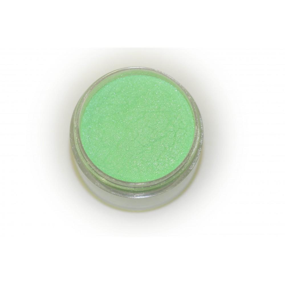 Цветная пудра для лепки LEX Perl Green - с эффектом перламутра, 7г