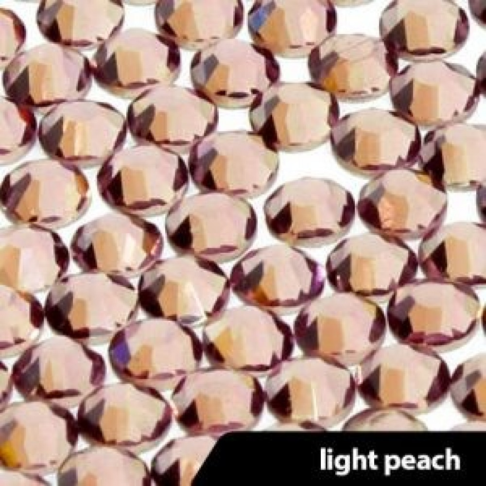 Стразы LIGHT PEACH SS3-100шт
