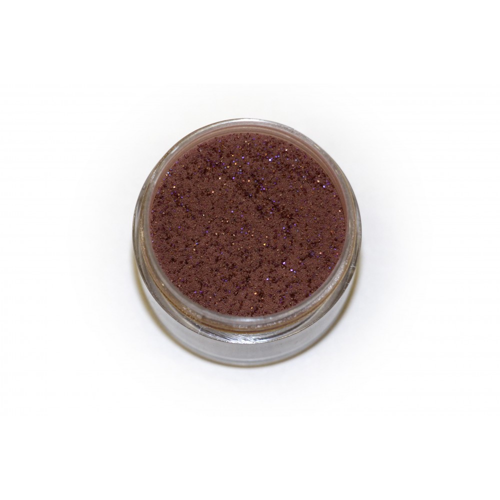 Цветная пудра для лепки LEX Shine Dark Brown  - мерцающая с глиттером, 7г