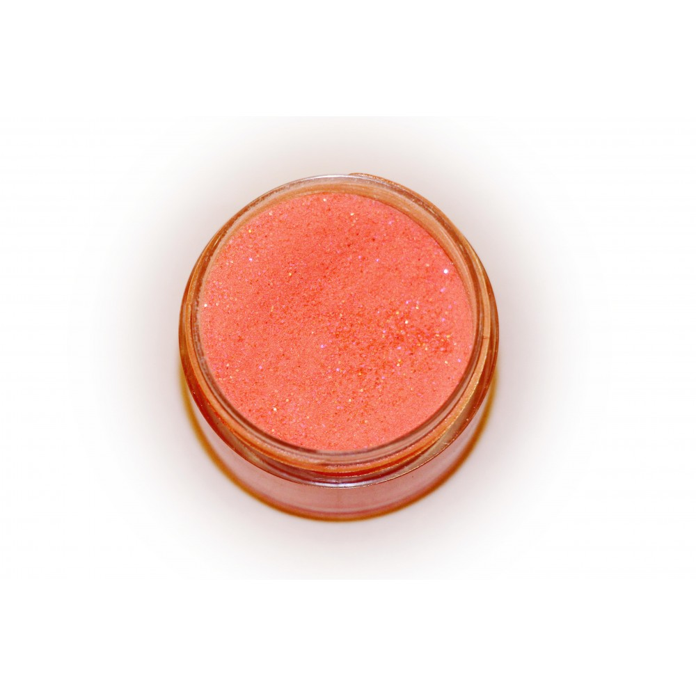 Цветная пудра для лепки LEX Shine Orange  - мерцающая с глиттером, 7г